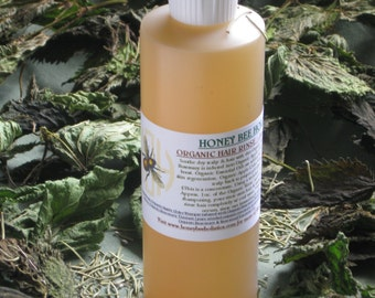 Organic Rosemary Hair Rinse Conditioner NOW w/Wild Nettle Tincture-Helps itchy scalp/hair growth-Ideal for brunettes-8oz. BPA free bottle
