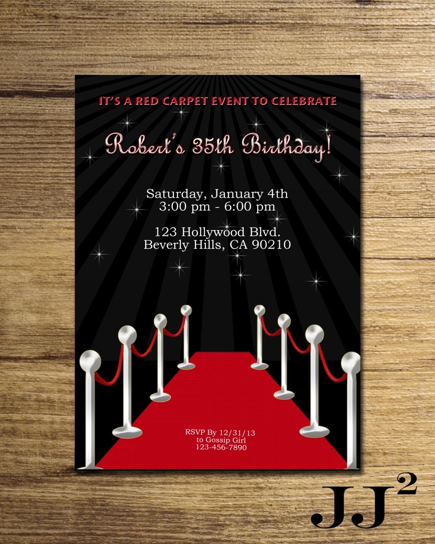 Printable Birthday Invitations Movie Party wedding card sample text ...