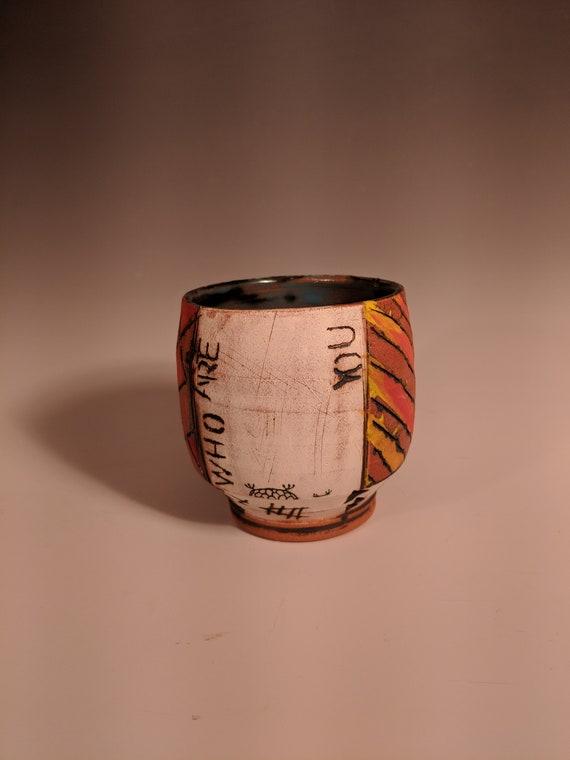 Handmade Ceramic Tea Bowls, Story Cups - Who Are You