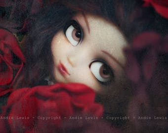 "Tirage simple 10x15cm ""Roses"" - Pullip Isul Dal photographie, doll art collection, impression deco no BJD no Blythe"