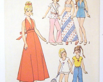 Vintage Barbie Doll Clothing Pattern Simplicity 6697- Uncut, Instructions Included- 1974