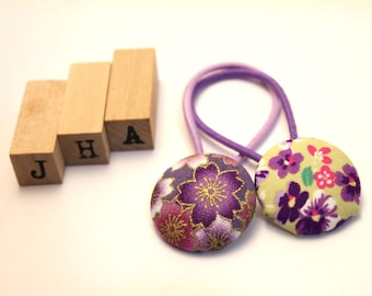 Children/Everyday/Girls - Fabric covered button hair tie
