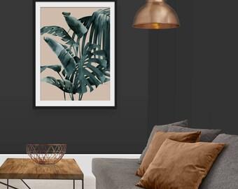 Palm Leaf Print. Palm Print. Tropical Print. Leaf Print. Green Print. Botanical Print. Wall Art. Wall Decor. Green Lili