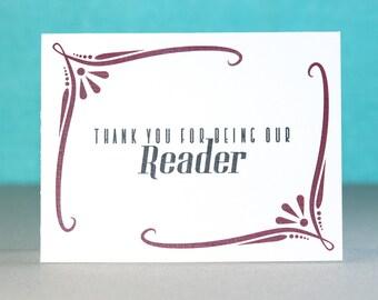 Wedding Reader Thank You Card   Scripture Reader   Lector   Poem Reader