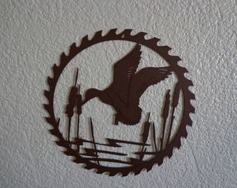 Duck Saw Blade Wall Art
