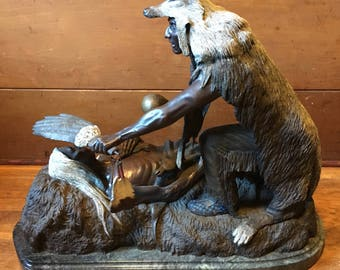 HAROLD SHELTON Journey to spirit World Indian Native American Bronze Dave McGary