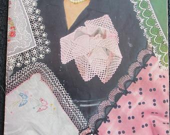 PB64 Vintage 1951 Edgings for Handkerchiefs Crochet Tatting Clarks No 15