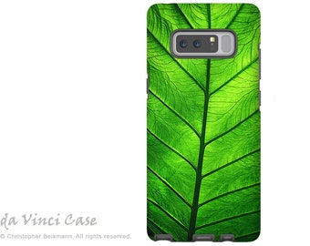 Green Leaf Galaxy Note 8 Case - Artistic Case for Samsung Galaxy Note 8 with Tropical Art - Leaf of Knowledge - Premium Dual Layer Case