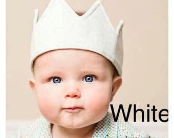 White birthday party crown decorations dress up party outfit