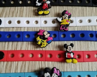 10 Mickey - Minnie Silicone Bracelets Party Favors