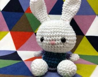 White and blue easter bunny