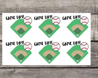 Baseball Game Day Planner Stickers