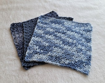 Crochet Dishcloths, 100% Cotton Dishcloths, 3 pack of dishcloths