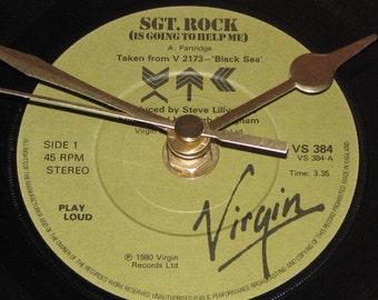 """Xtc sgt.rock 7"""" vinyl record clock"""