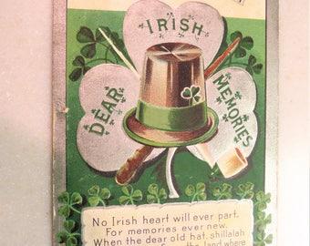 Vintage 1909 Postcard Erin Go Bragh St. Patrick