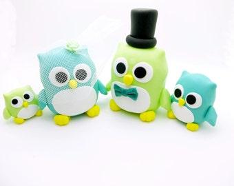 Owl couple wedding cake toppers*