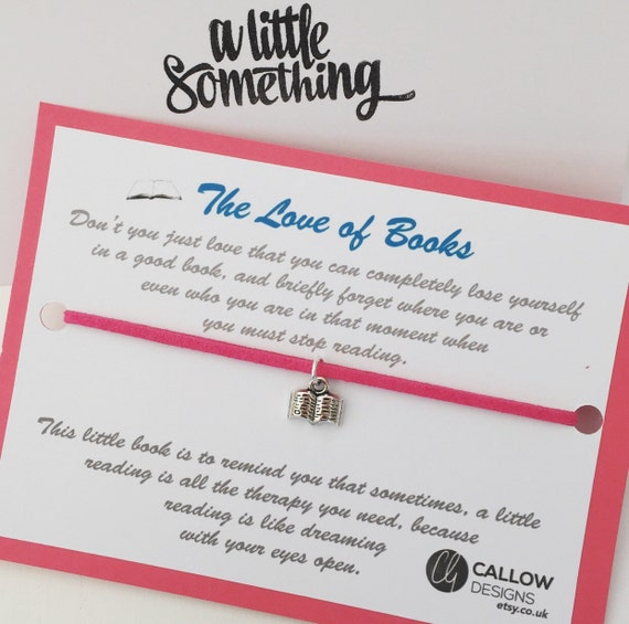 The love of books greetings card and charm bracelet meaning stopboris Choice Image