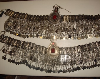 Vintage Tribal Afghani Uzbek Kuchi Hazara Head Piece Fusion Belly Dance Bling