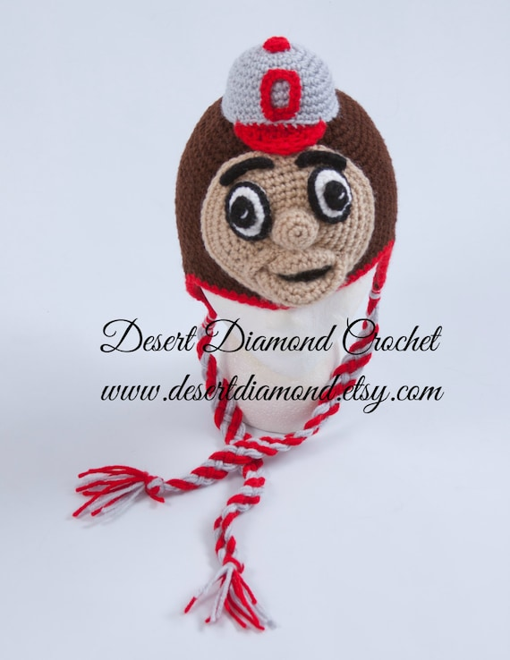 Brutus the Ohio State University Buckeye Hat