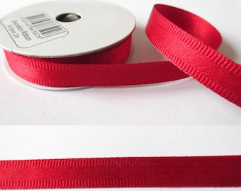 2 m x fancy 10mm Satin Red Ribbon