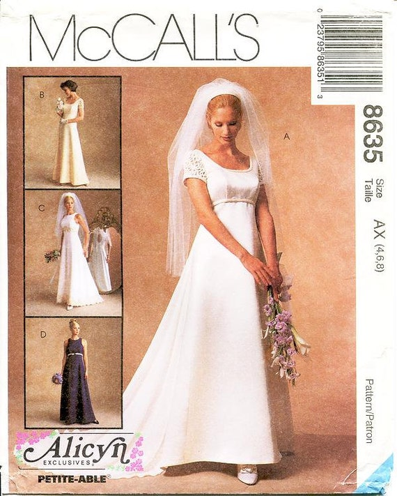 Pick Your Size - Empire Waist Wedding Dress or Bridesmaid/Formal ...