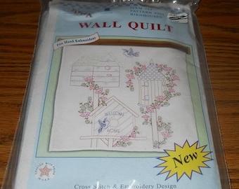 "20% Off Jack Dempsey Needle Art Kit~36"" Wall Quilt ~Birdhouses Design~#739 Pattern 399"