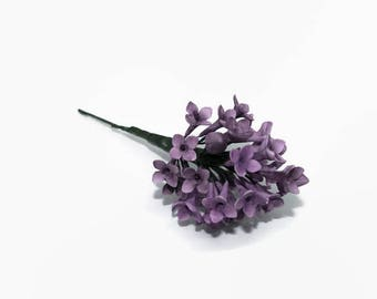Lilac Sugar Flowers Spray in Dark Purple for wedding cake topper, gumpaste filler flowers, wedding decor
