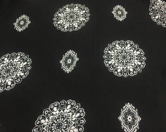 Crinkle Rayon Print Fabric 2 Yards