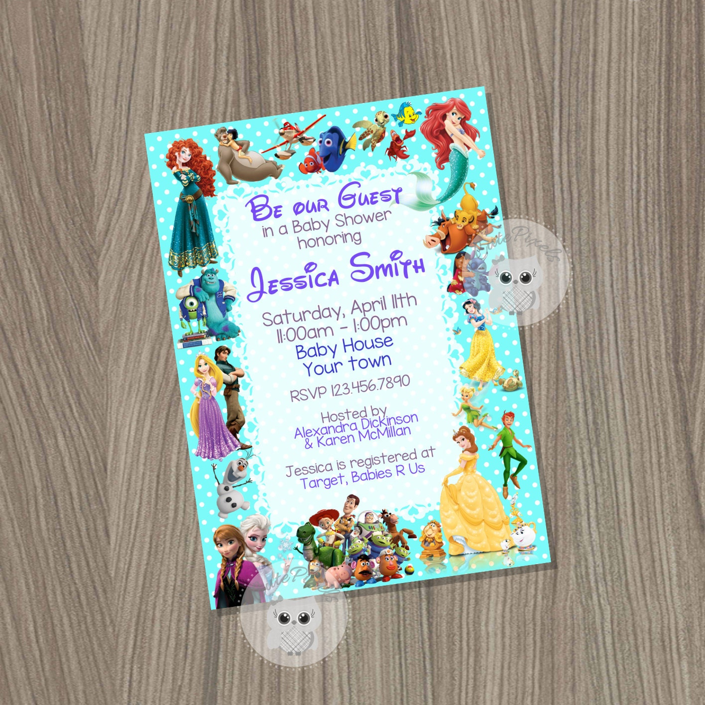 Baby shower Invitation Disney Baby Shower Baby Shower Baby