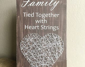 DIY Kit - Family Tied Together with Heart Strings