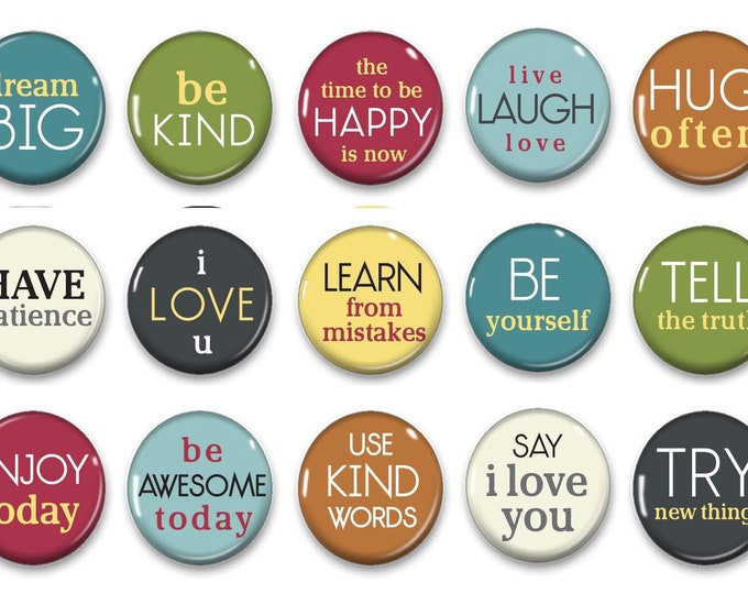 Inspirational refridgerator magnets - Gifts for her - Office Decor - Party favors - Office Gifts - Cubicle Decor - Inspirational Quotes