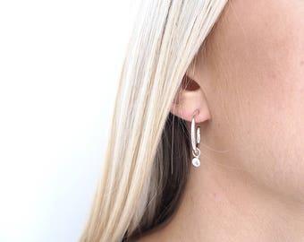 Pebble Hoop Earrings