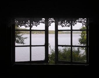 Lake Winnipesaukee photograph, Lake Winnipesaukee print, Window print, Window photography