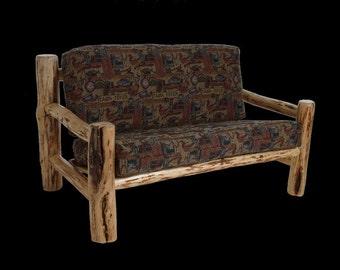 Log furniture Rustic Mountain Hewn Love Seat