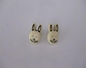 button Bunny head resin 15 mm