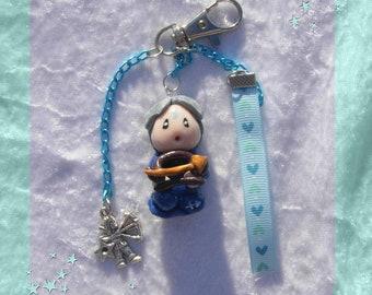 Jewel Bag Little Pixie Boy Sagittarius Zodiac- Fairy decoration- Keychain Sagittarius- Oaak fairy miniature - Birth or birthday gift