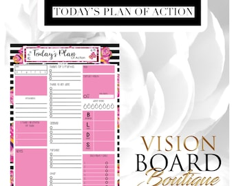 Today's Plan of Action Sheet