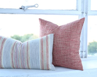 Bohemian Artisan Collection // Coral Throw Decorative Pillow Covers // Coral Pillow Covers