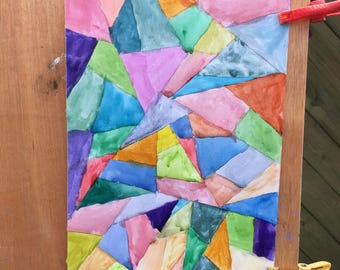 Triangle life-watercolor on watercolor paper