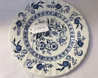 Vintage Blue Nordic Bread and Butter Plate by J & G Meakin England