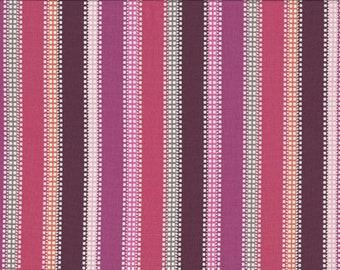Purple/Rose Stripe, 100% Cotton Fabric, Sold by Half Yard (23124)