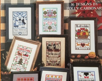 Samplers for Special Occasions • Counted Cross Stitch Pattern • Leisure Arts 2469 • Welcome Thanksgiving Christmas Vintage Leaflet Patterns