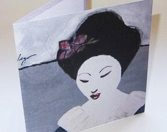 JAPAN9 greeting card
