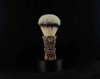 Tiki Shave Brush Handle