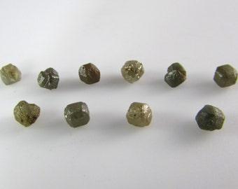 Rough diamonds-Lot of 10 x 0.33 carat uncut diamonds, raw diamonds, for jewelry, conflict free