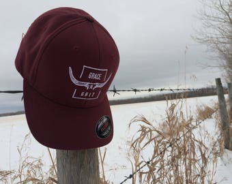 Ball cap-Burgundy