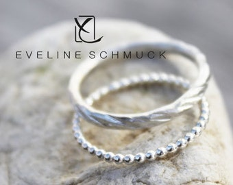 stacking rings  boho silver rings 925 hammered rings