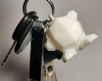 Kirby Low Poly Keychain