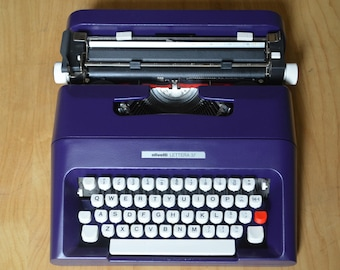 Custom Made Purple -  Olivetti Lettera 35 - Vintage Typewriters - Fully Servived - Working Perfectly