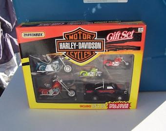 Harley Davidson Matchbox Gift Set 1994 Original Box